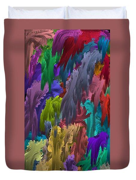 Colors Of Palette Water Colors Duvet Cover