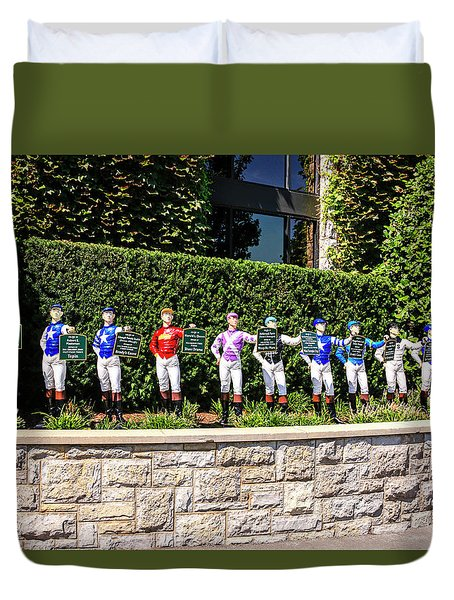 Colors Of Past Stakes At Keeneland Ky Duvet Cover