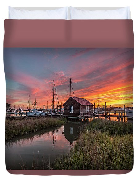 Colors Of Shem Creek - Mt. Pleasant Sc Duvet Cover
