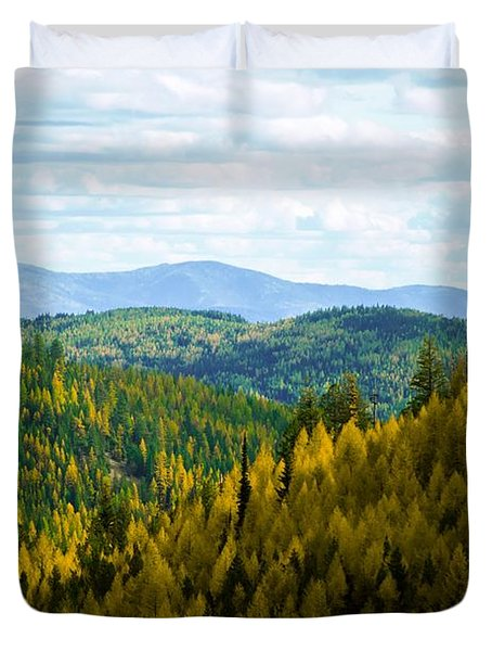 Colors Of Sherman's Pass Duvet Cover