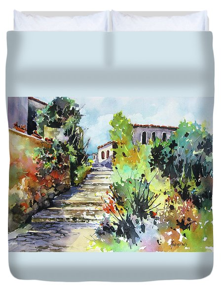 Colors Of Spain Duvet Cover by Rae Andrews