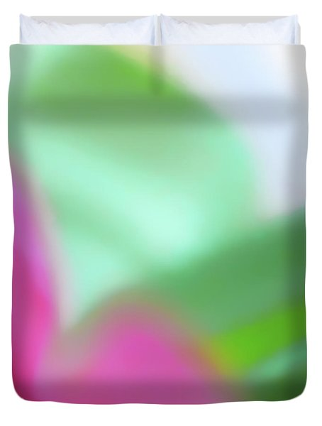 Colors Of Spring Abstract No 2 Duvet Cover