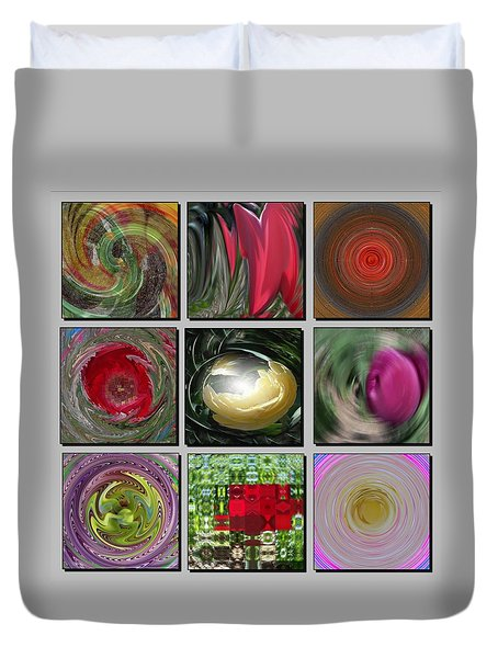 Colors Of Spring Duvet Cover by David and Lynn Keller