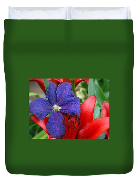 Duvet Cover featuring the photograph Colors Of Summer by Rebecca Overton