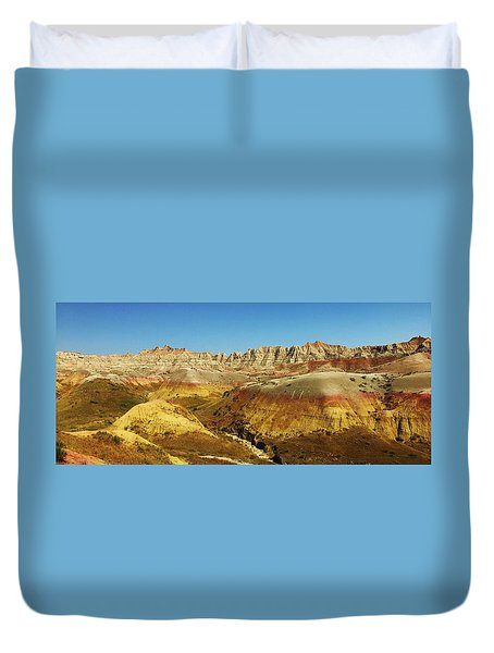 Colors Of The Badlands Duvet Cover