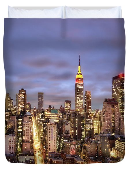 Colors Of The Night Duvet Cover by Evelina Kremsdorf
