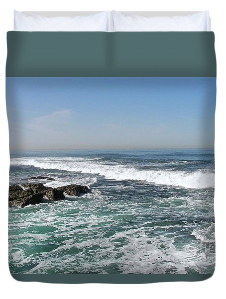Duvet Cover featuring the photograph Colors Of The Sea by Carol  Bradley