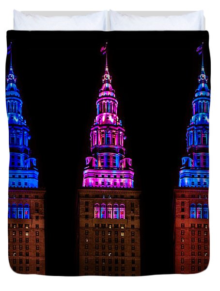 Colors Of The Terminal Tower Duvet Cover
