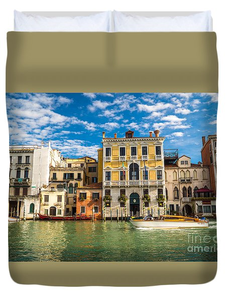 Colors Of Venice - Italy Duvet Cover