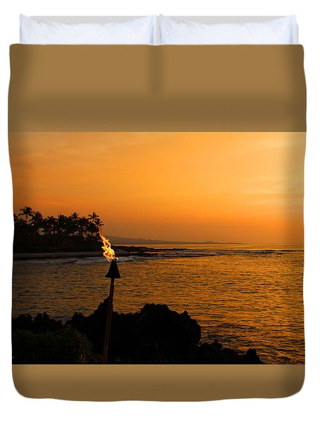 Colors Of Waikoloa Hawaii Duvet Cover by Kerri Ligatich