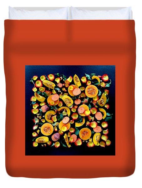 Colors Of Winter Squash Duvet Cover