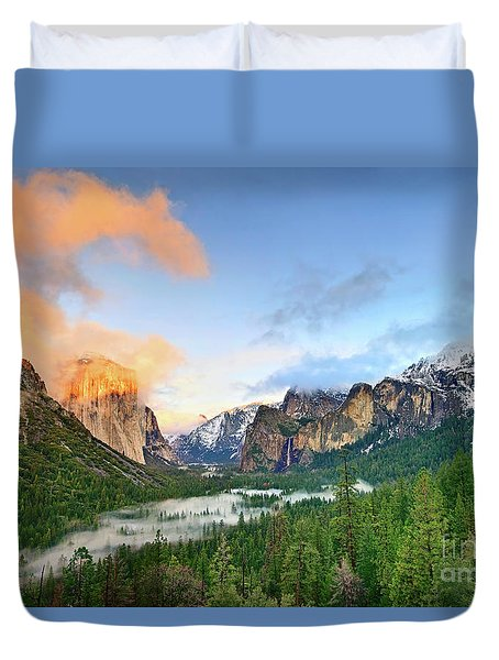 Colors Of Yosemite Duvet Cover