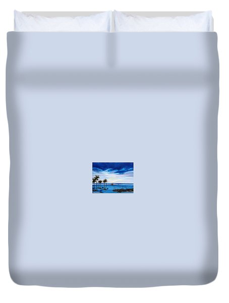 Colors On The Gulf Duvet Cover