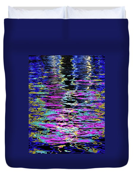 Duvet Cover featuring the photograph Colors On Water by Erin Kohlenberg