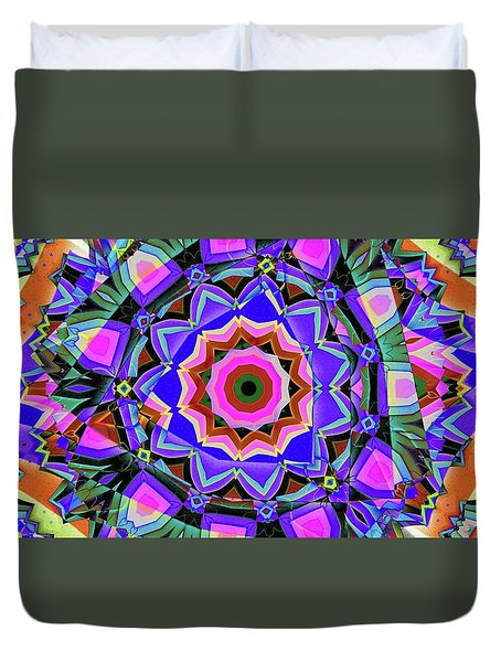 Colors O're Laid Duvet Cover by Ron Bissett