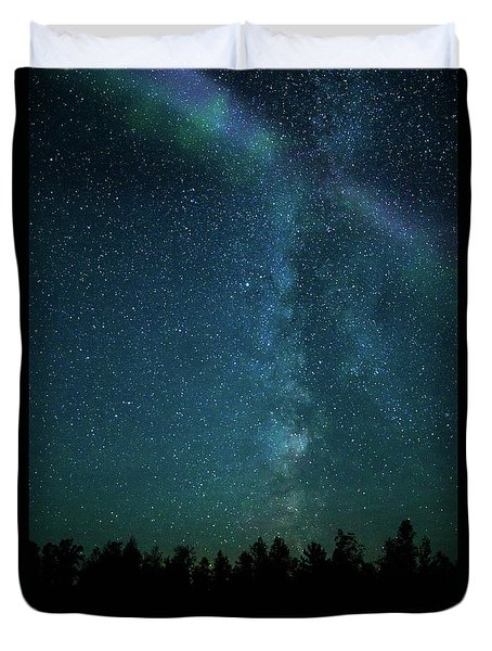 Colors Over The Milky Way Duvet Cover