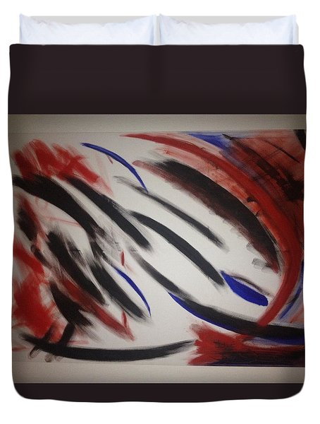 Duvet Cover featuring the painting Abstract Colors by Sheila Mcdonald