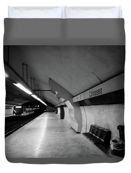 Colosseo Station Duvet Cover
