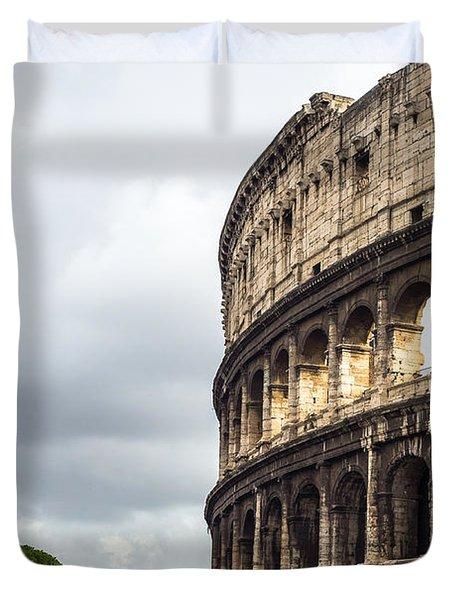 Colosseum Closeup Duvet Cover