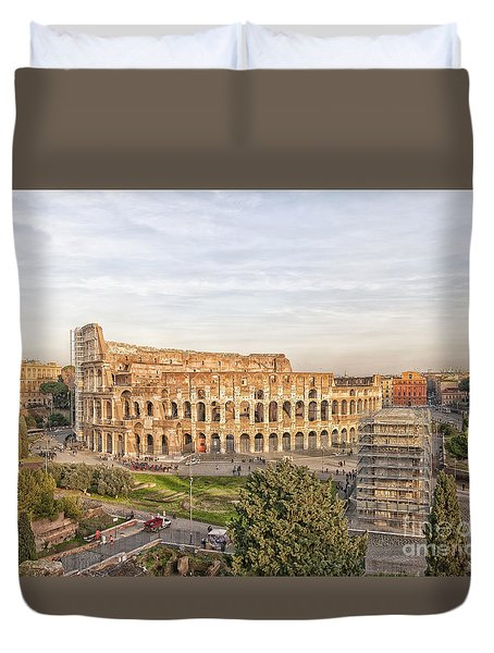 Colosseum From Palatine Hill Duvet Cover