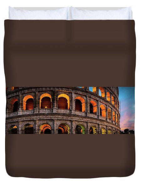 Colosseum In Rome, Italy Duvet Cover