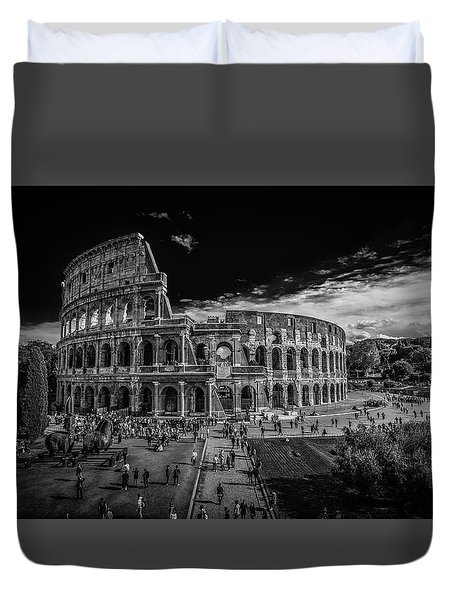 Duvet Cover featuring the photograph Colosseum by James Billings