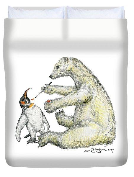 Colour Bear Duvet Cover by Mark Johnson