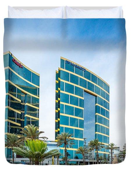 Colour Buildings Lima. Duvet Cover
