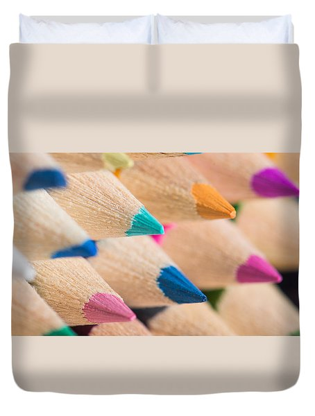 Colour Pencils 3 Duvet Cover