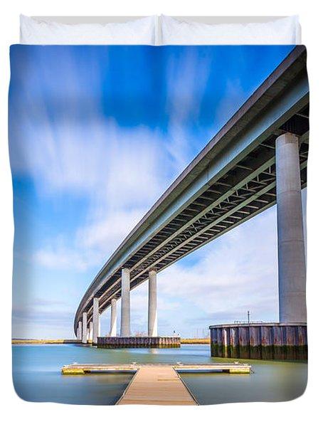 Colour Wide River Bridge Duvet Cover