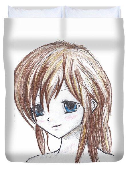 Coloured Anime Duvet Cover