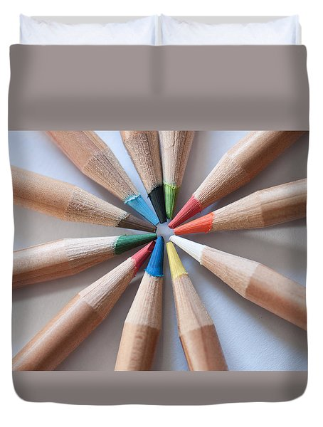 Coloured Pencils 2 Duvet Cover