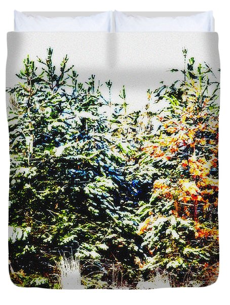 Coloured Trees  Duvet Cover