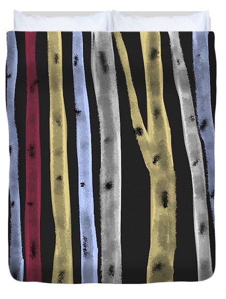Colourful Birches Duvet Cover