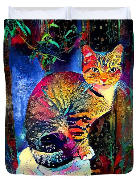 Colourful Calico Duvet Cover