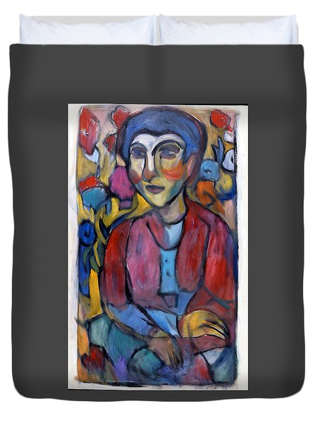 Colourful Contemple Duvet Cover