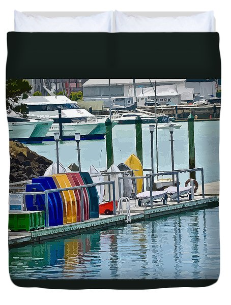 Colourful Dinghies Auckland Duvet Cover