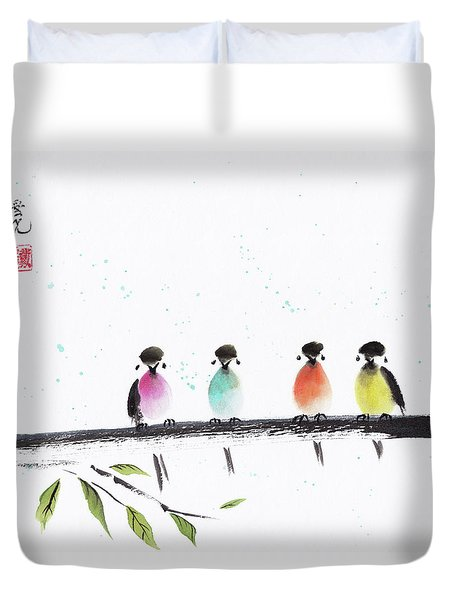 Colourful Family Duvet Cover