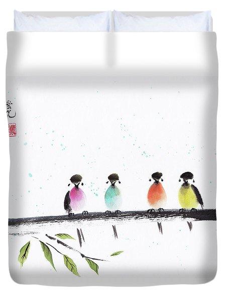 Colourful Family Duvet Cover
