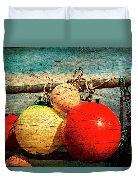Colourful Fenders In A Distressed State. Duvet Cover by Paul Cullen