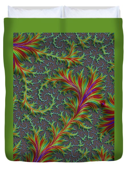 Colourful Fronds Duvet Cover