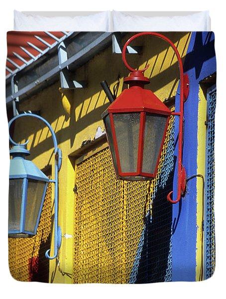 Colourful Lamps La Boca Buenos Aires Duvet Cover