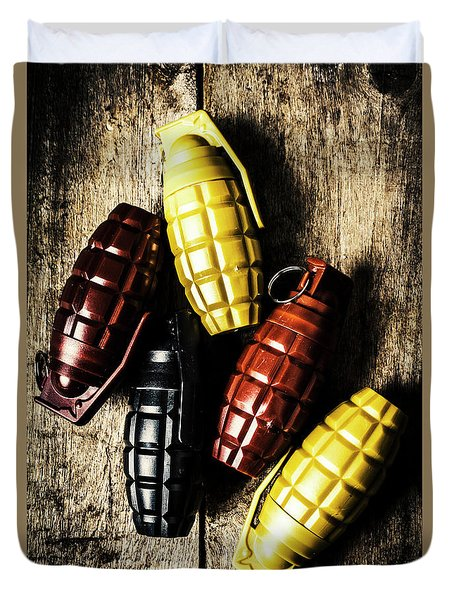 Colourful Munitions  Duvet Cover
