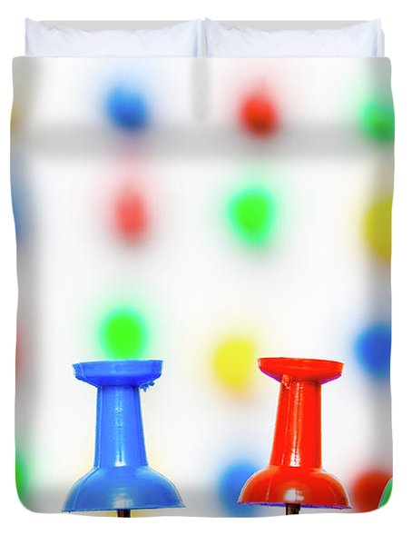 Colourful Pins. Duvet Cover