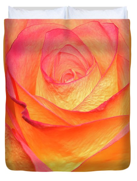 Colourful Rosie Duvet Cover by Roy McPeak