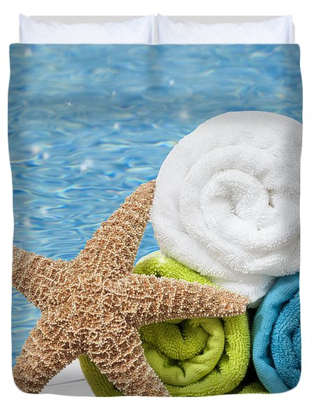Colourful Towels Duvet Cover by Amanda Elwell