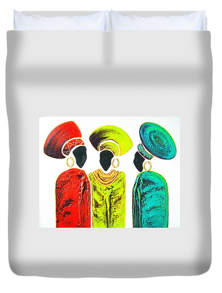 Colourful Trio - Original Artwork Duvet Cover