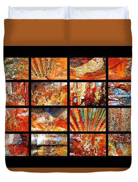 Colours Of Corrosion  Duvet Cover