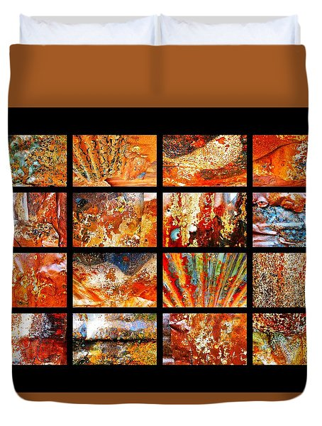 Colours Of Corrosion  Duvet Cover by Lexa Harpell