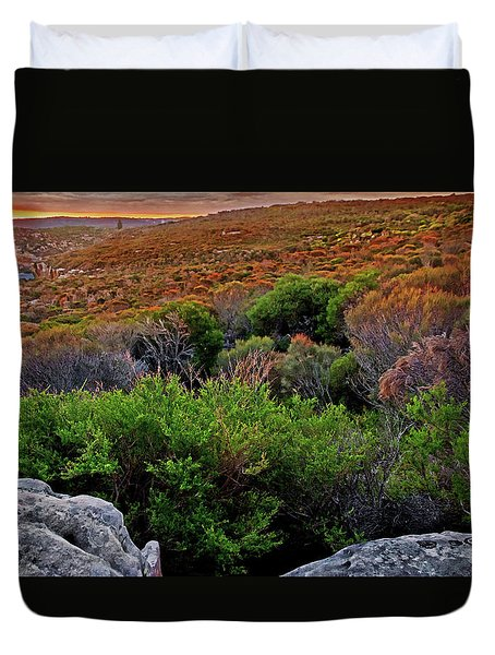 Duvet Cover featuring the photograph Colours Of North Head by Miroslava Jurcik